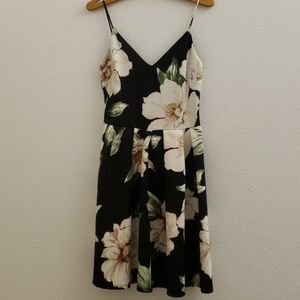 Soprano Spaghetti Strap Fit and Flare Floral Dress